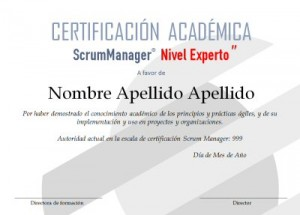 Certificado Scrum Manager